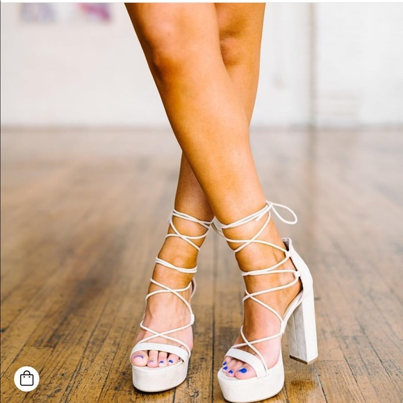 d4d3fb4d04c Chunky wrap heels. M 5b68ea2503087c267ef02aba